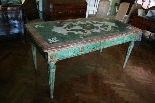 Tavoli Di Marmo Intarsiati : Genovesi antichità restauri galleria tavoli e scrivanie